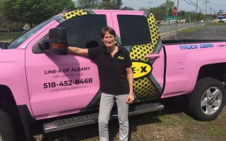 Pink Truck Wrap