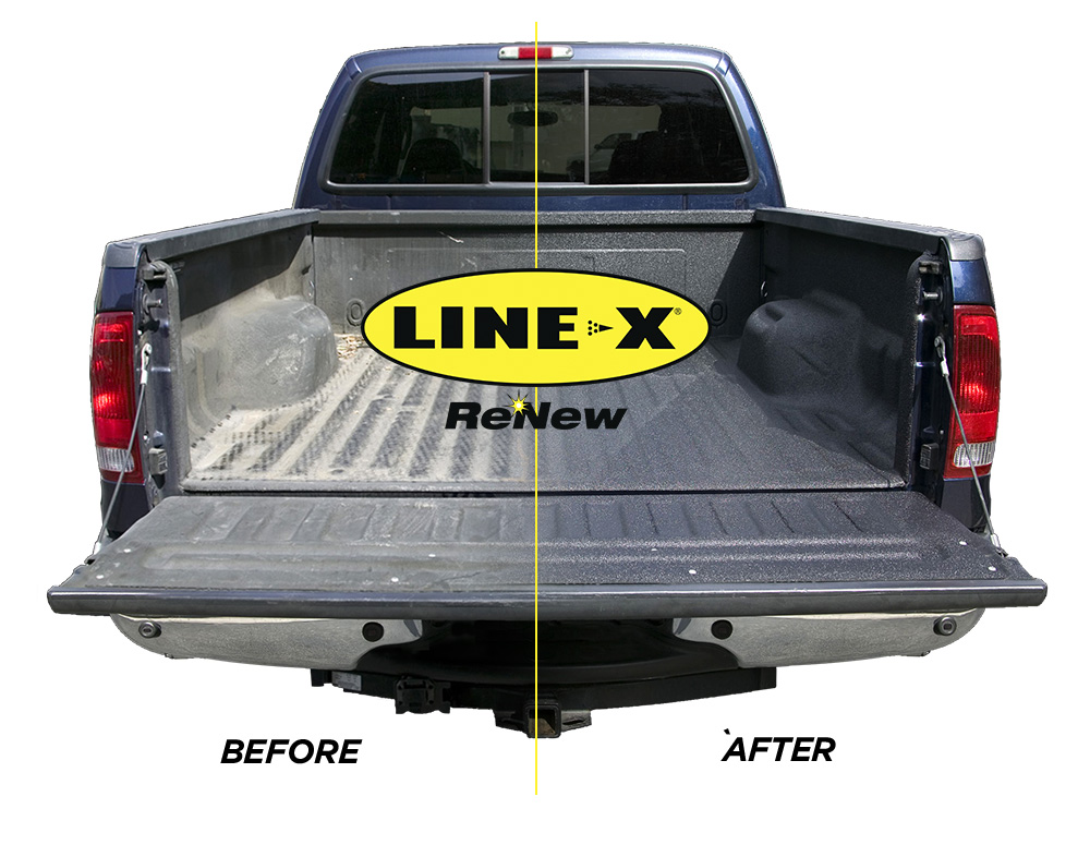 LINE-X ReNew restores any faded or damaged spray-on bed liner